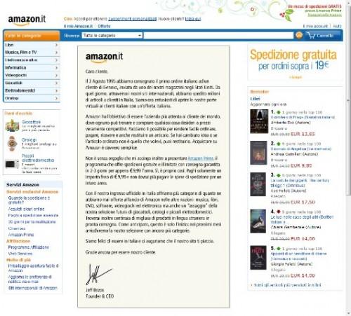 amazon.it home 001 500x451 Amazon è sbarcato ufficialmente in Italia, con solo 9,99 Euro spedizioni gratis per un anno