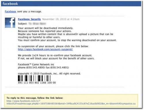 fb websense 0001 500x385 Websense: Facebook viene sfruttato per attacchi phishing e reindirizzazioni a siti malevoli