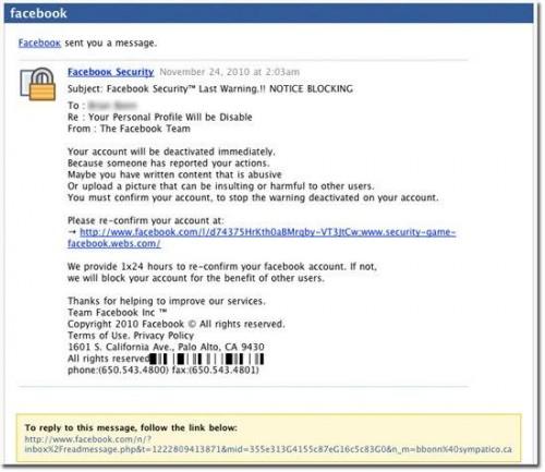 fb websense 0002 500x433 Websense: Facebook viene sfruttato per attacchi phishing e reindirizzazioni a siti malevoli