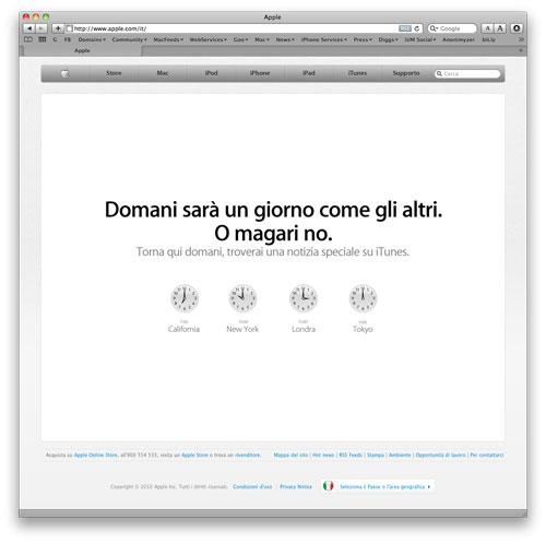giornoitunes Un annuncio Apple in arrivo, a siti unificati per un lancio di iTunes