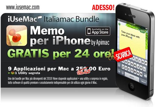 iummemos Memo App Gratuita per 24 ore per celebrare il Bundle di Italiamac.it