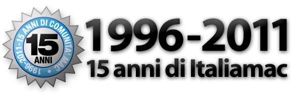 15annidiitaliamac 1996 2011, Italiamac da 15 anni dalla parte degli utenti Mac italiani