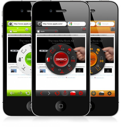360 2 500x524 360 Web Browser: unalternativa originale e completa a Safari su iPhone