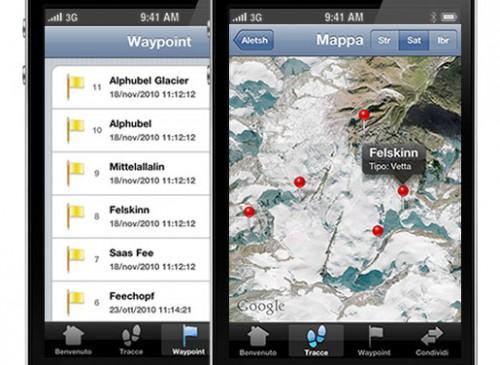 et2 500x365 EasyTrails GPS, unapp per iPhone pensata per chi ama gli sport invernali