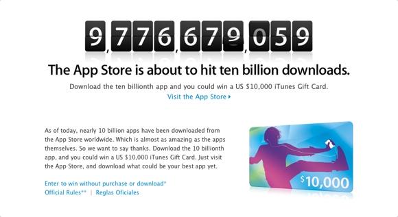 10000 download appstore App Store a quota 10 miliardi di download. E Apple lancia un concorso