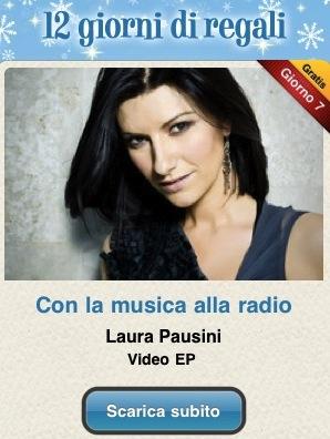 """Laura Pausini1 12 giorni di regali   """"Con la musica alla radio"""" di Laura Pausini"""