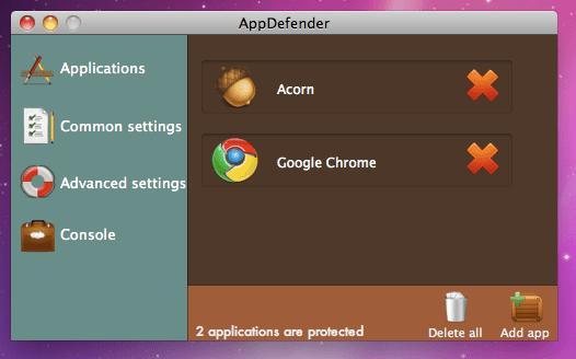 Schermata 2011 01 06 a 18.37.50 Proteggi le tue applicazioni con AppDefender