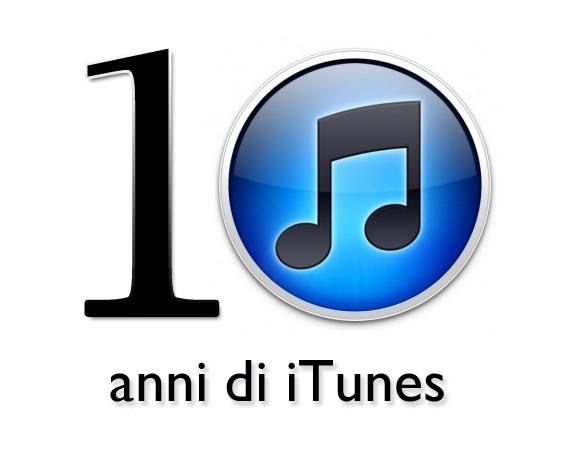 itunes 10 anni di iTunes: la rivoluzione continua!