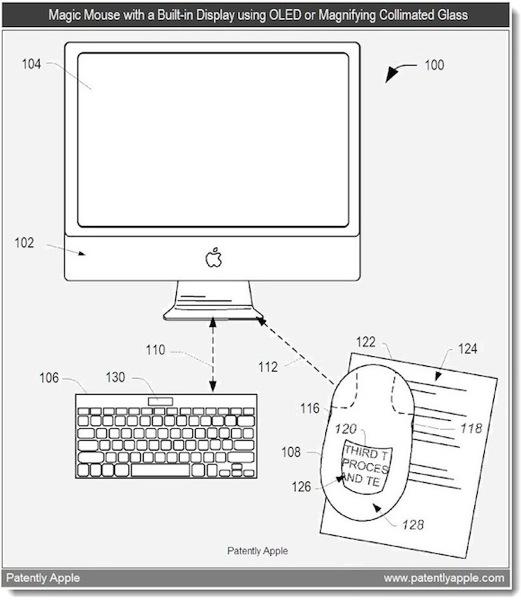 mouse patent Nuovo brevetto Apple: uno schermo multi touch sui Magic Mouse