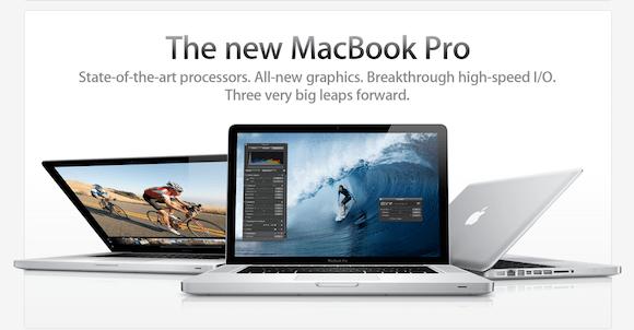 screen capture 3 Ecco i nuovi MacBook Pro: Thunderbolt, schede video AMD e fotocamera HD