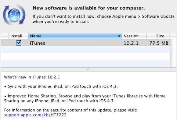 181030 itunes 10 2 1 iTunes 10.2.1. disponibile in Aggiornamento Software