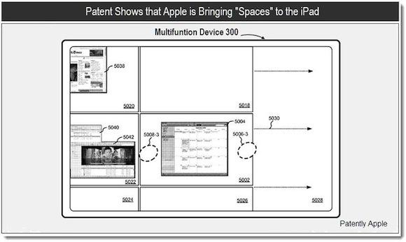 %name Un brevetto Apple mostra gli Spaces su iPad