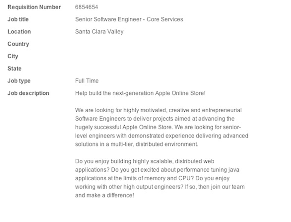 Schermata 2011 03 08 a 16.14.10 Apple cerca personale per migliorare il suo Store online