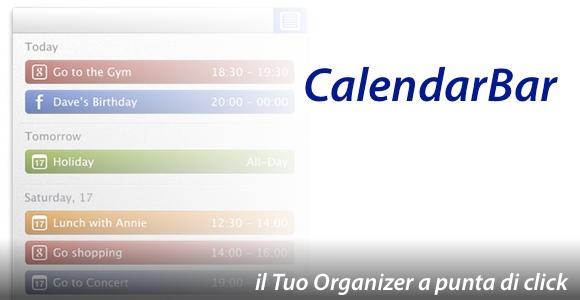 calendarbar home CalendarBar, unApp Semplice, Economica e molto Utile.