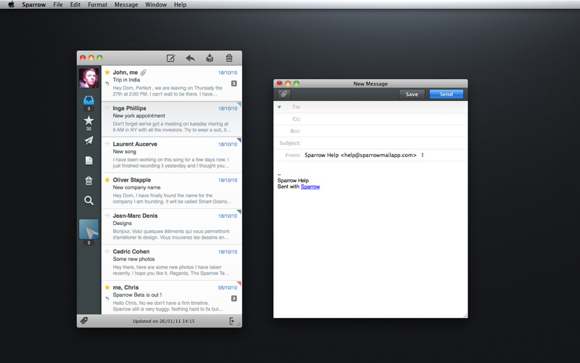 sparrow1 Sparrow, il client e mail per Mac che si ispirava a Tweetie