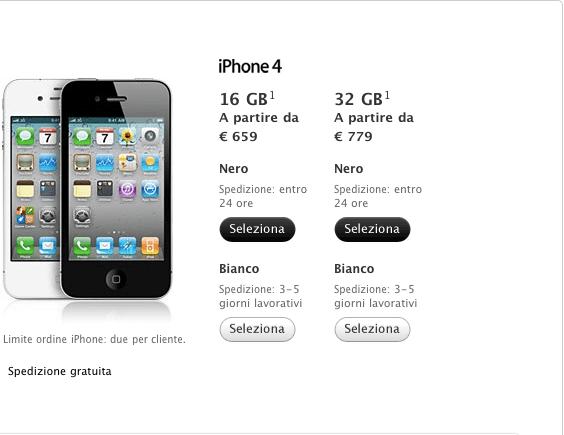 Schermata 2011 04 28 a 12.55.12 Da oggi è possibile acquistare liPhone 4 bianco