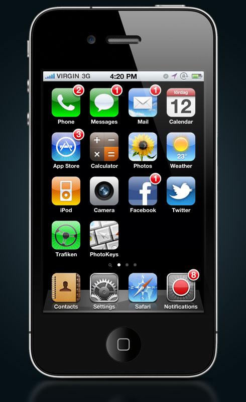 iphone12 Un concept mostra come potrebbero essere le notifiche push in iOS 5
