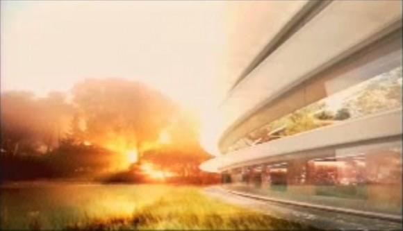 apple spaceship campus 5 580x333 Steve Jobs presenta il progetto di quello che sarà il nuovo Campus di Apple