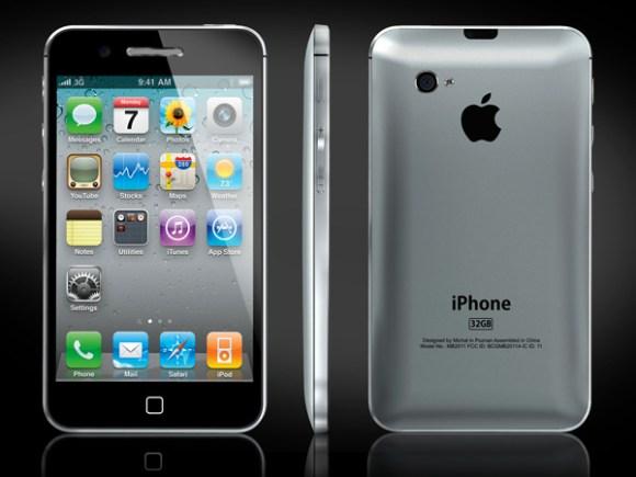 iphone5 concept 580x435 Un Concept Desing di futuro iPhone 5