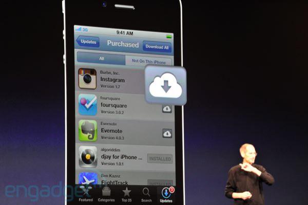 stevejobswwdc2011liveblogkeynote0910 WWDC: iCloud, backup automatici di tutto il nostro mondo digitale, dalle foto ai documenti