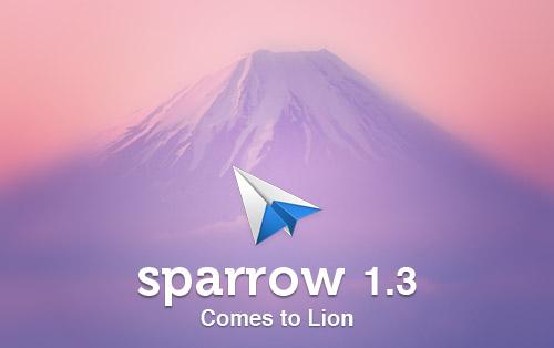 180711 sparrow 1 Sparrow aggiunge la compatibilità con Mac OS X Lion