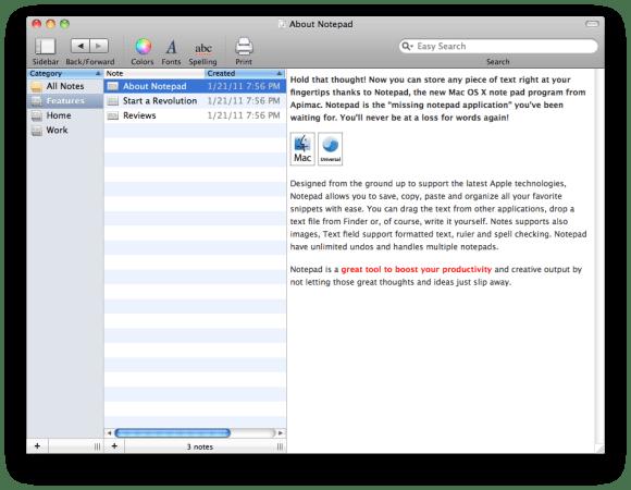 21 580x450 Notepad: il software più semplice per creare e organizzare le tue note con Mac