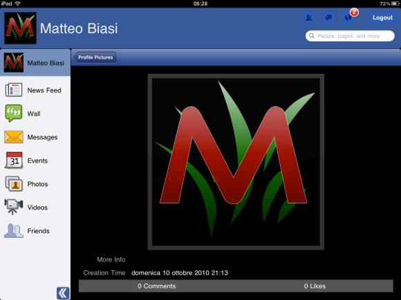 foto copia 7 580x435 Segui gli aggiornamenti di Facebook su iPad con Facemobile