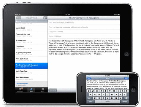 ipad iphone Aggiornamento: WordPress per iOS giunge alla versione 2.8.3