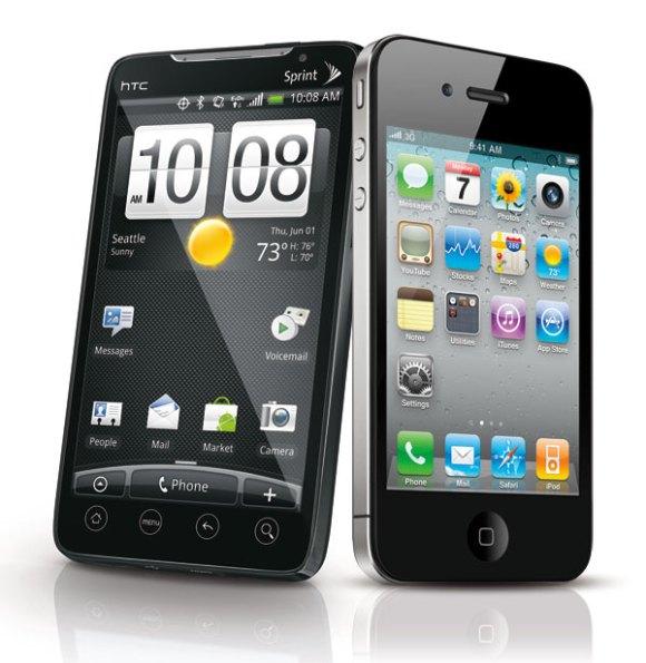 iphone 4 htc evo 4g 580x595 HTC ha violato due brevetti di Apple