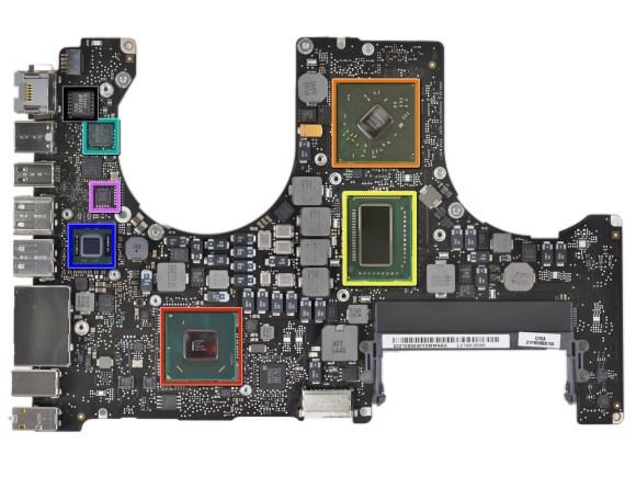 macbook pro early 2011 scheda logica 580x435 Schede grafiche inadeguate sui nuovi MacBook Air?