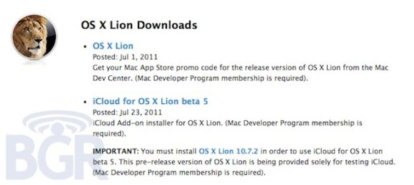 os x lion 10 7 2110724024125 580x260 Apple rilascia Mac OS X Lion 10.7.2 e la beta 5 di iCloud