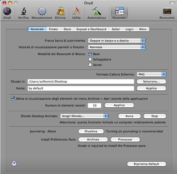 CapturFiles 12 OnyX si aggiorna e diventa compatibile con Lion OS X