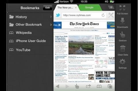 CapturFiles 31 Dolphin Browser è disponibile per iPhone