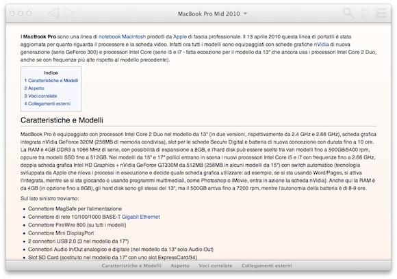 Senza titolo1 WikiBuddy per Mac: il programma deccellenza per consultare Wikipedia sul Mac