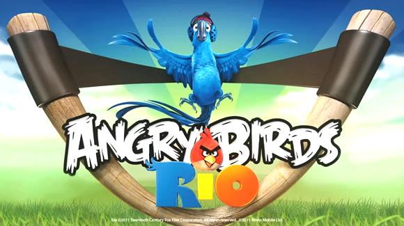 angry birds rio title Nuovo aggiornamento per Angry Birds Rio