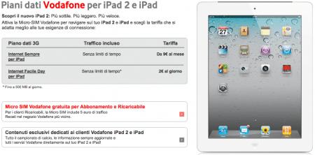 ipad 2 vodafone Anche Vodafone venderà gli iPad 2