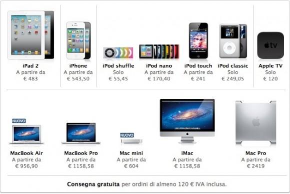 CapturFiles 23 580x389 Aumento dei prezzi nellApple Store dovuto al rialzo dellIVA al 21%