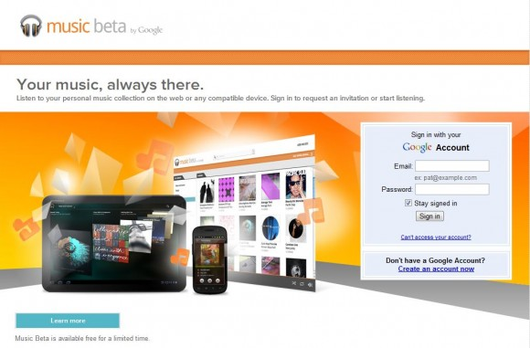Google Music Beta 580x381 Google rilascia la Web App Musica Beta per iOS