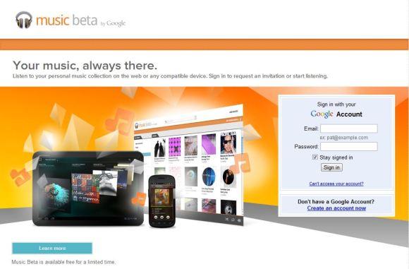 Google Music Beta 580x381 Google rilascia la Web App Musica Beta per iOS