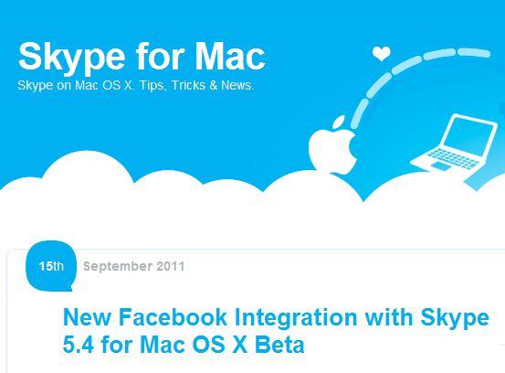 Skype1 Skype 5.4 beta per Mac OS X si aggiorna con lintegrazione di Facebook