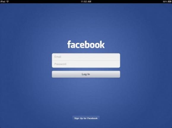 facebook ipad 38 580x434 Lapplicazione ufficiale di Facebook per iPad verrà annunciata al prossimo evento Apple?