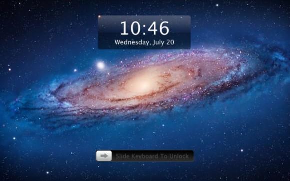 mzl.mdjppsvi e1316487592970 580x362 Lock screen 2 : una simpatica applicazione per inserire lo Slide to unlock nei vostri Mac come su un dispositivo iOS