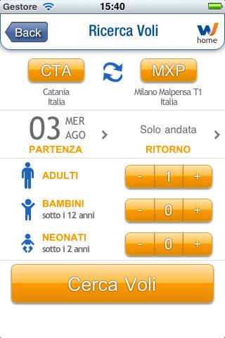 windjet2 In breve: Anche Wind Jet lancia la sua app per prenotare i voli