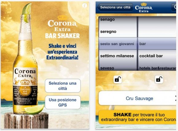 BarShaker 580x425 Barshaker 2.0 si rinnova la app per iPhone di 2night e Corona Extra
