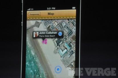 Evento Find My Friends 2 414x274 Apple presenta due nuove applicazioni: Cards e Find My Friends