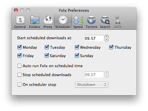 folx scheduled slidetomac Con Folx gestiamo i nostri download