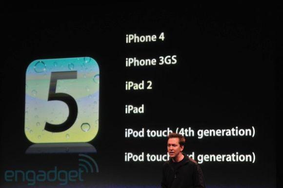 iphone5apple2011liveblogkeynote1292 580x385 iOS 5 ed iCloud saranno disponibili per tutti a partire dal 12 Ottobre