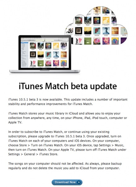Schermata 11 2455879 alle 14.35.21 Apple rilascia agli sviluppatori, iTunes 10.5.1 beta 3 con iTunes Match