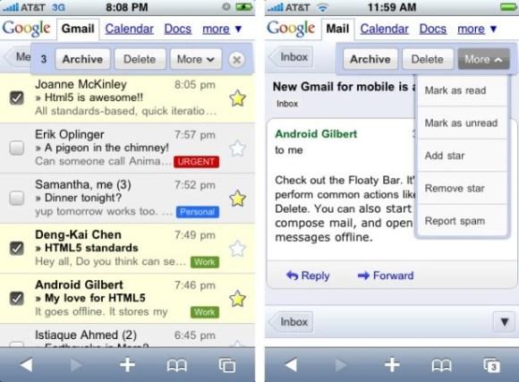 gmail 580x427 Entro breve Google rilascerà unapplicazione nativa di Gmail per iOS