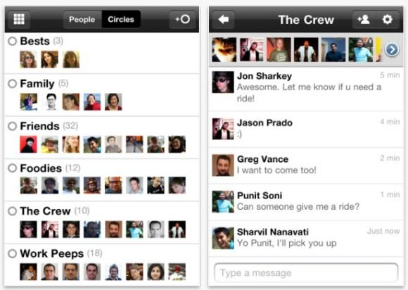 google plus iphone app launched 1 580x412 Nuovo aggiornamento per Google+ che aggiunge le notifiche su iOS5